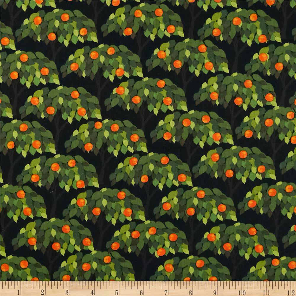 Kanvas Sew Rousseau Orange Trees Black