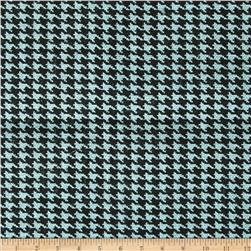 60'' Sultana Burlap Houndstooth Bellow Blue Fabric