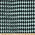 "60"" Sultana Burlap Houndstooth Bellow Blue"