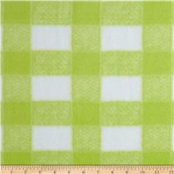 Gingham Fleece Baby Plaid Green