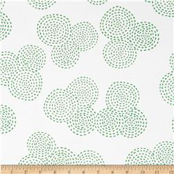 Michael Miller Stitch Circle Green Fabric