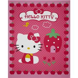 Hello Kitty Cupcake Panel Pink Fabric