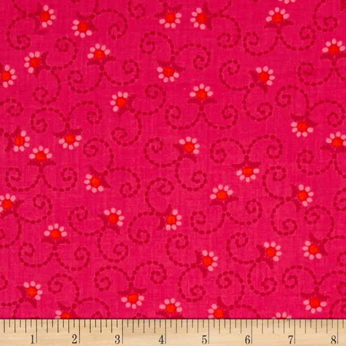 Kanvas Little Katerina Stitched Daisy Pink