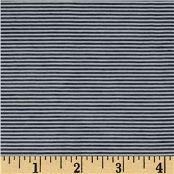 Cotton Blend Voile Pinstripes Navy/White