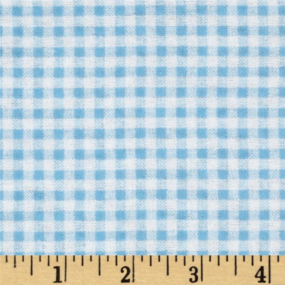 Camelot Flannel Gingham Blue