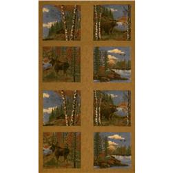 Moda Boundary Water Flannel Panel Forest Bronze