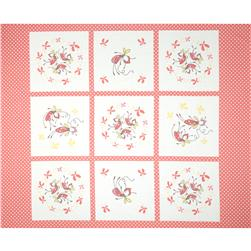 Riley Blake Butterfly Dance Panel Pink Fabric