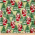 Homespun Holiday Santa Green