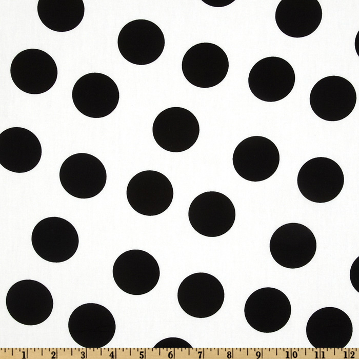 Pimatex Basics Jumbo Dot White/Black Fabric