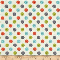 Sew Simple Buttons Cream Fabric