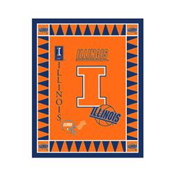 Collegiate Fleece Panel University of Illinois Orange Fabric