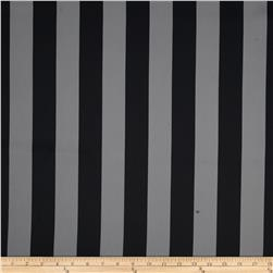 RCA Vertical Stripe Blackout Drapery Fabric Grey/Black