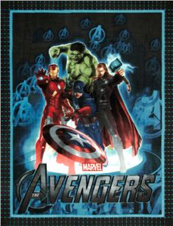 The Avengers No Sew Fleece Throw Kit Heroes