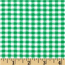 Aunt Polly's Flannel Gingham Grass Green/White