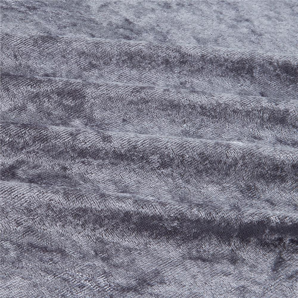 Alpine upholstery velvet grey discount designer fabric for Velvet fabric
