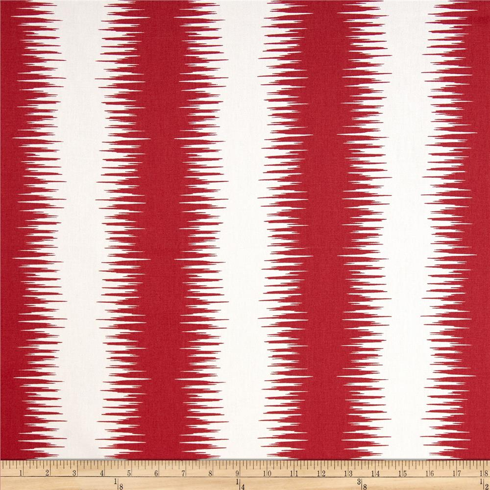 Premier Prints Jiri Stripe Carmine Red