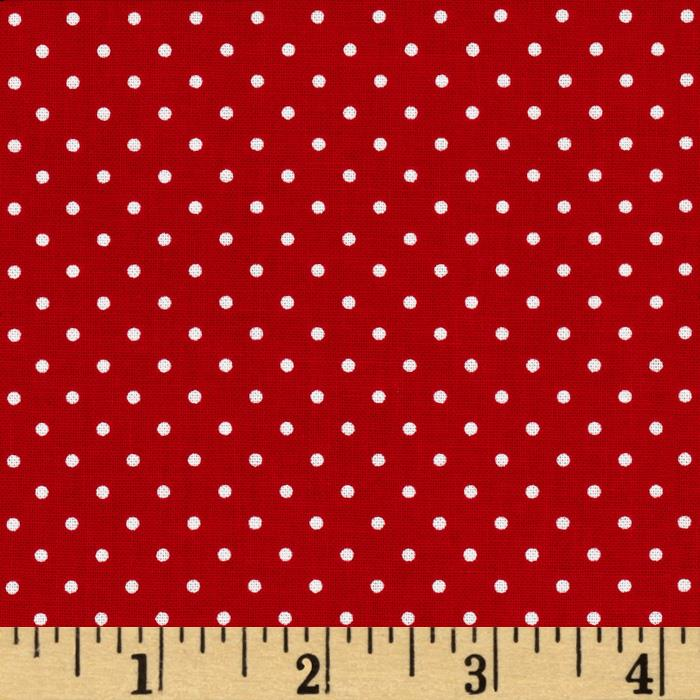 Riley Blake Swiss & Dots Red/White