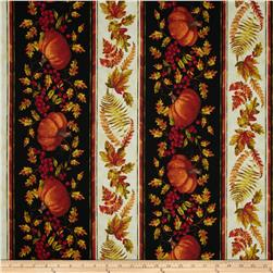 Timeless Treasures Fall Festival Pumpkin Border Autumn
