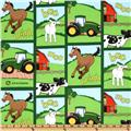 John Deere Nursery Farm Animal Block Green