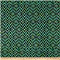 Indian Batik Urban Ethnic Ikat  Blue/Green