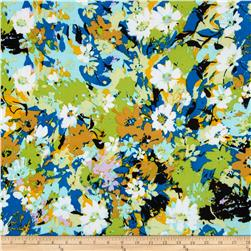 ITY Jersey Knit Floral Blue/Green
