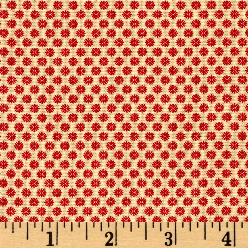 Moda Petite Prints Oyster Rouge Fabric By The Yard