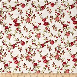 Nancy Gere Peyton Small Floral Cream