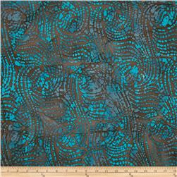 Indian Batiks Dreamcatcher Swirl Brown/Blue