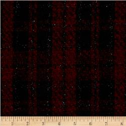 Boucle Coating Small Check Red/Black with Mylar