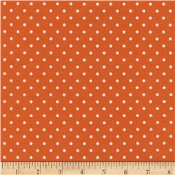 Timeless Treasures Polka Dots Orange