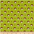 Michael Miller Fox Woods Hedgehog Heaven Lime