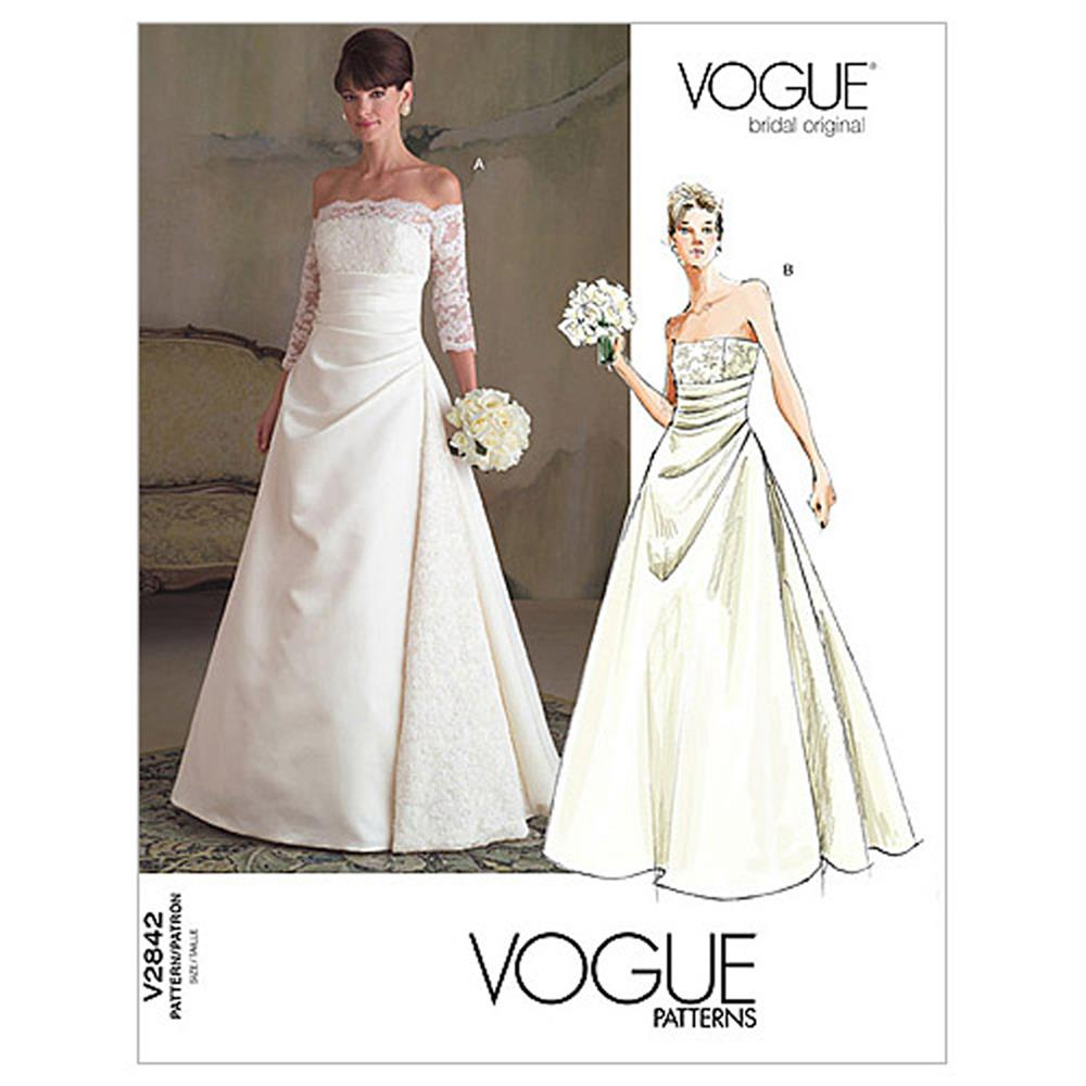 Vogue Misses' Dress Pattern V2842 Size 0A0