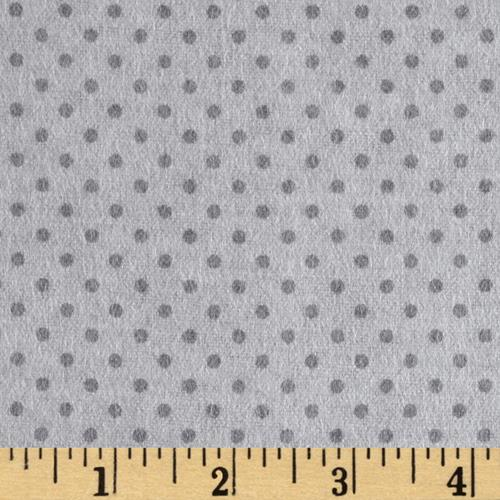 Flannel Small Dot on Grey Tonal