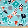 Michael Miller Ahoy Matey Mutiny on the Bunting Turquoise