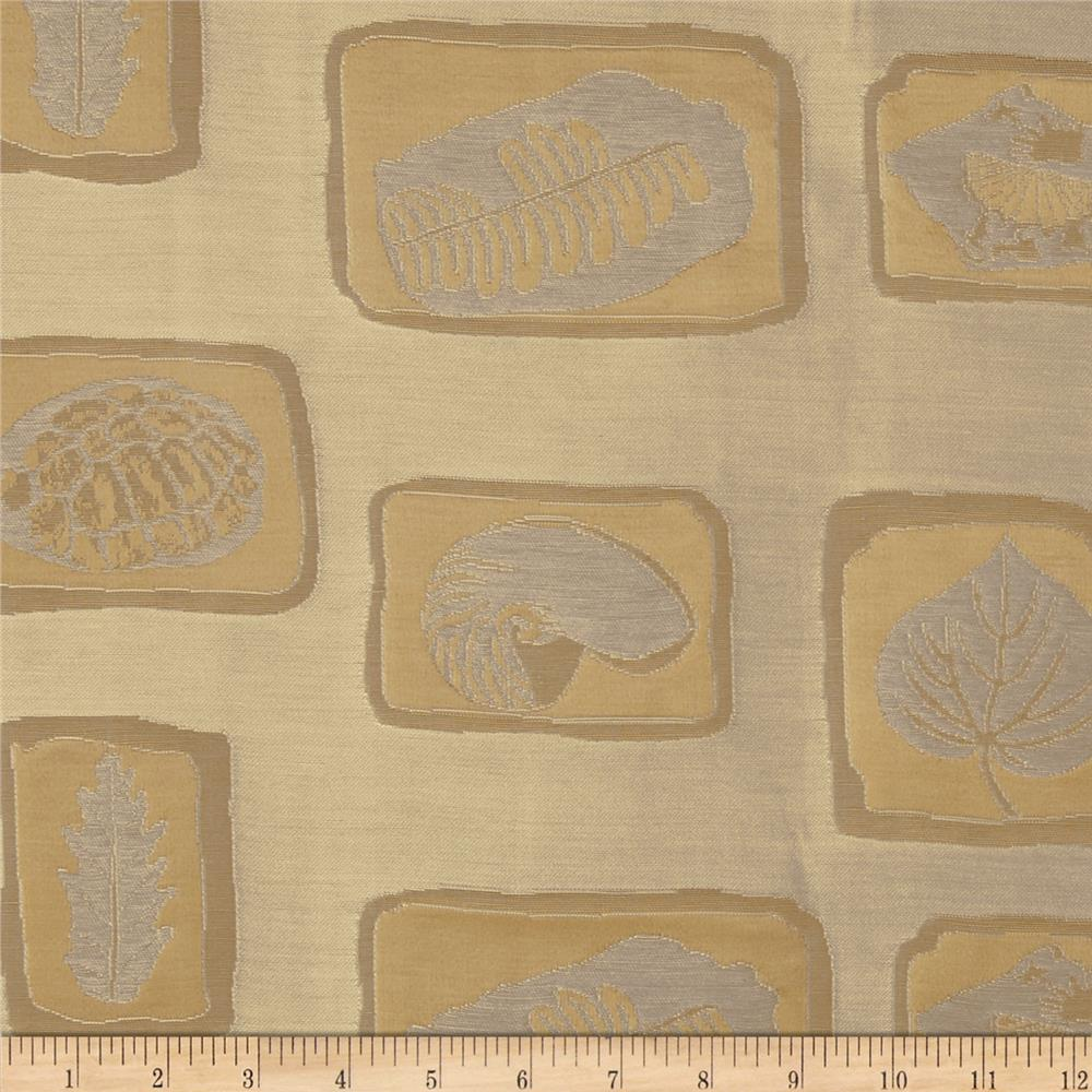 Robert Allen Promo Fossils Jacquard Blue Taupe