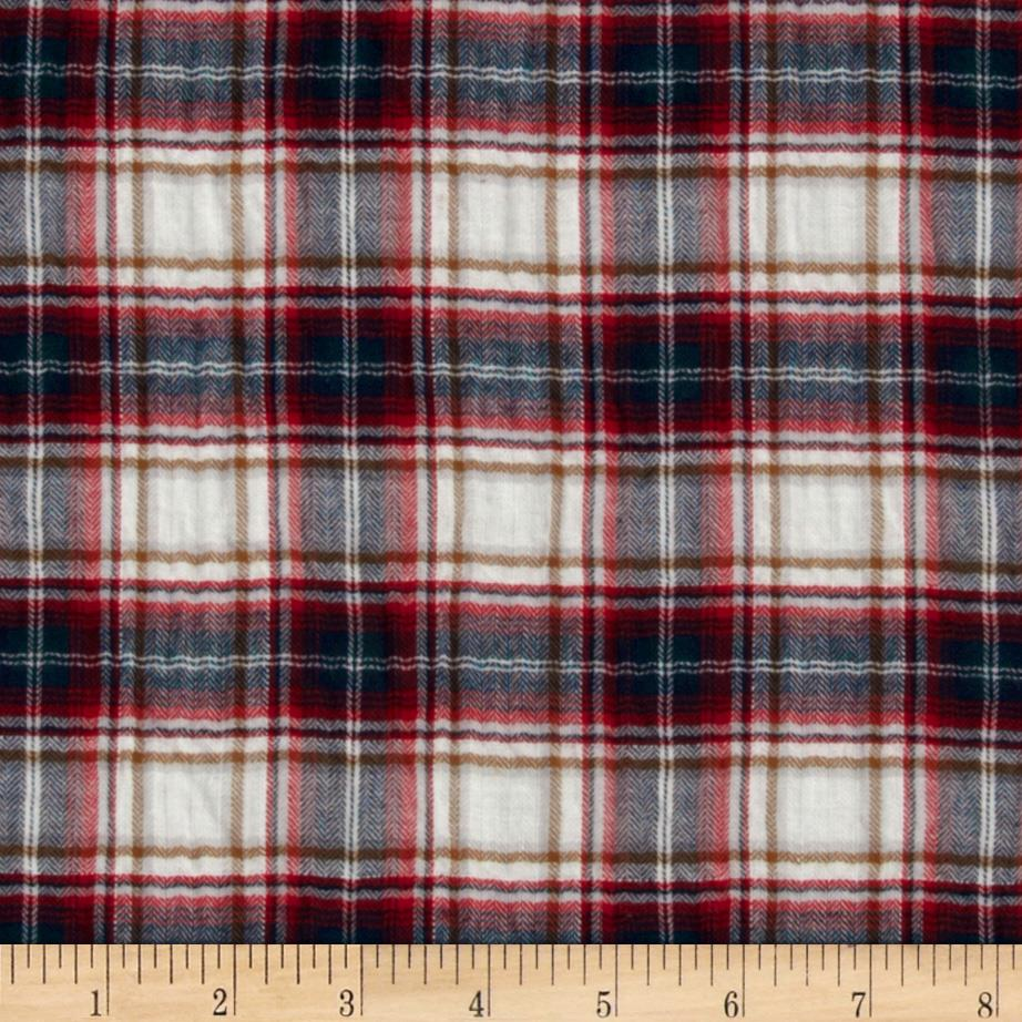 Crinkle Shirting Plaid Navy/Red/White