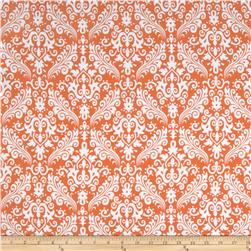 Riley Blake Flannel Medium Damask Orange Fabric