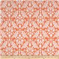 Riley Blake Flannel Medium Damask Orange