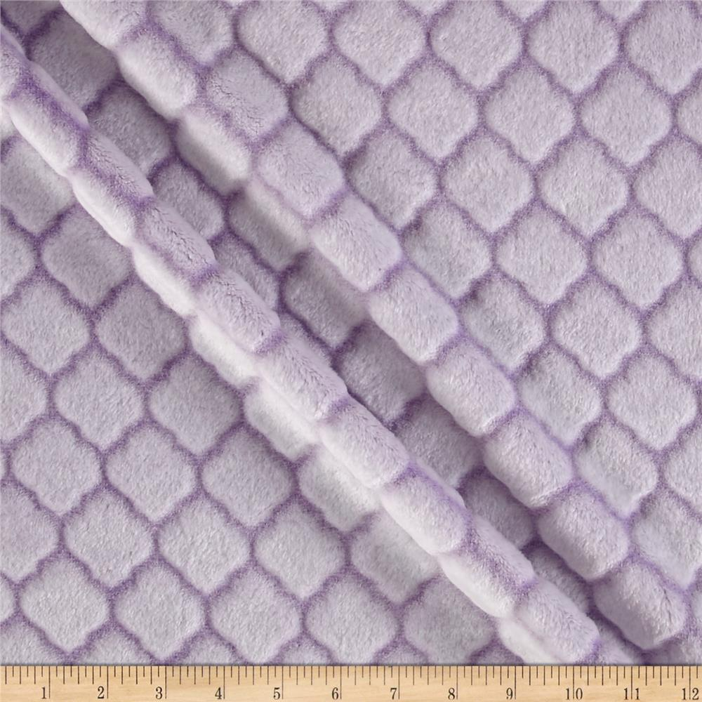 Shannon Minky Embossed Tile Spa Cuddle Lilac
