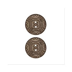 Organic Elements Coconut Button 1 1/8'' Natural