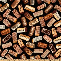 Wine Lovers Wine Corks Black