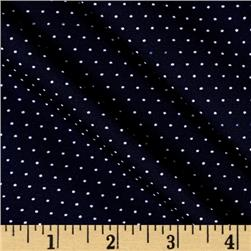 Telio Monaco Stretch ITY Knit Small Dot Navy/White