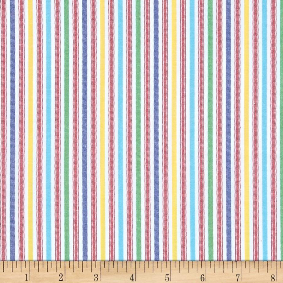 Kaufman Classic Threads Medium Stripe Primary