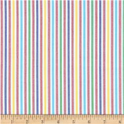 Kaufman Classic Threads Medium Stripe Primary Fabric