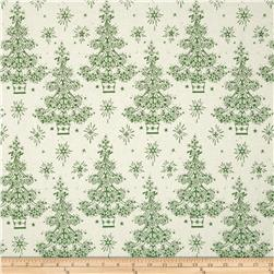 Anna Griffin Yuletide Greetings Sparkle Tree Green