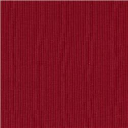 Cotton Rib Knit Brick Red