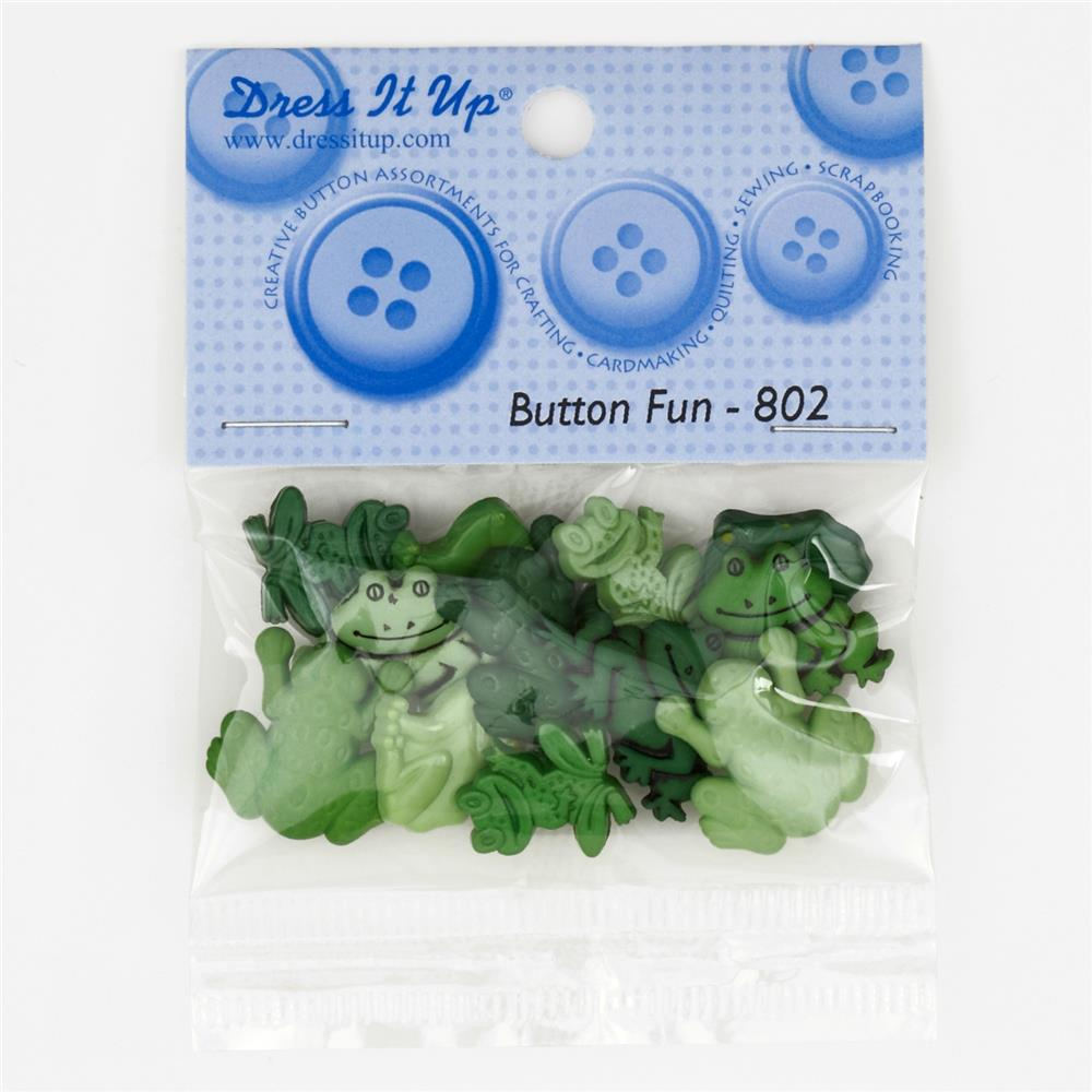 Dress It Up Embellishment Buttons  Multi Frogs