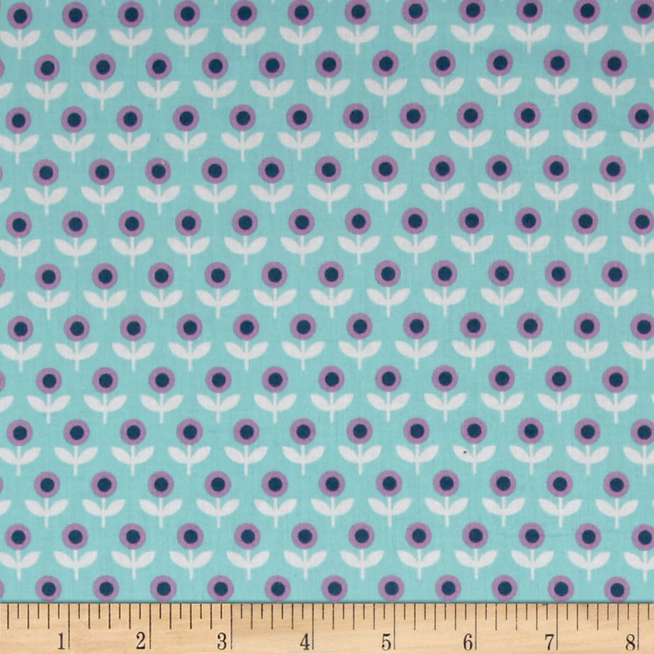 Joel Dewberry Modernist Voile Tulip March Aqua Fabric by Westminster in USA