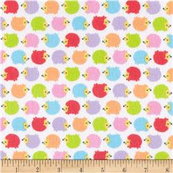 Riley Blake Wildflower Meadow Flannel Hedgehogs Multi