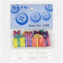 Dress It Up Embellishment Buttons Glitter Bows